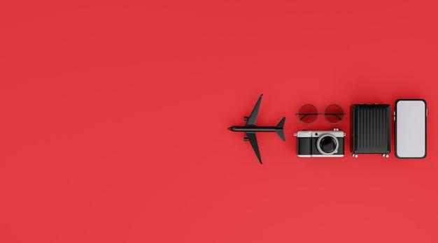 Concept de voyage. rendu 3d