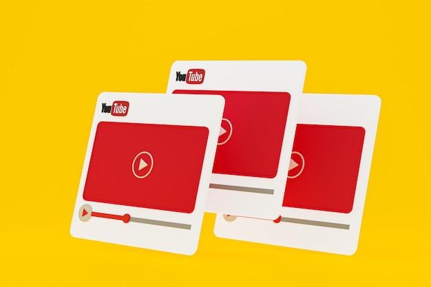 Conception 3d De Lecteur Vidéo Youtube Ou Interface De Lecteur Multimédia Vidéo Photo Premium