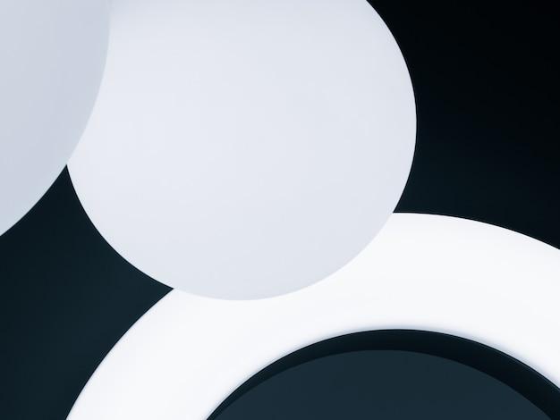 Conception abstraite avec des cercles et des arcs lumineux