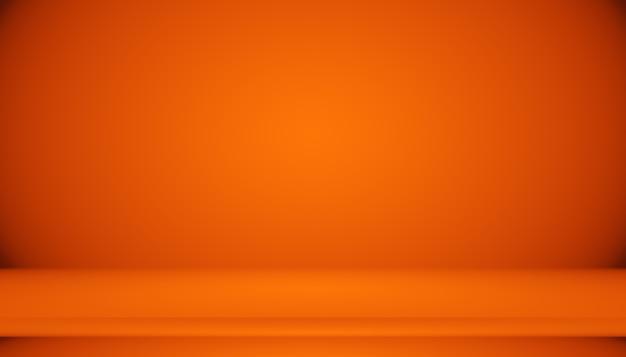 Conception abstraite de la mise en page de l'arrière-plan orange lisse, studio, salle, modèle web, rapport d'activité avec une couleur de dégradé de cercle lisse