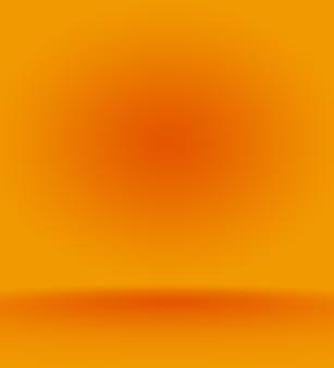 Conception abstraite de la mise en page de l'arrière-plan orange lisse, studio, salle, modèle web, rapport d'activité avec un dégradé de couleur de cercle lisse