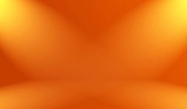 Conception abstraite de la mise en page de l'arrière-plan orange lisse, studio, salle, modèle web, rapport d'activité avec un dégradé de couleur en cercle lisse