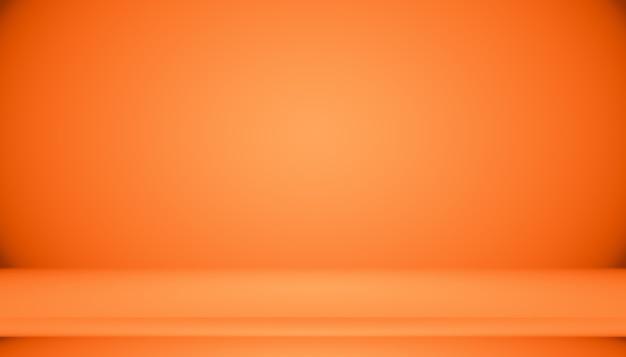 Conception Abstraite De La Mise En Page De Fond Orange Lisse, Studio, Salle, Modèle Web, Rapport D'activité Avec Une Couleur De Dégradé De Cercle Lisse. Photo gratuit