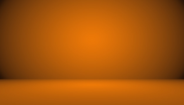 Conception abstraite de la mise en page de fond orange lisse, studio, salle, modèle web, rapport d'activité avec une couleur de dégradé de cercle lisse.