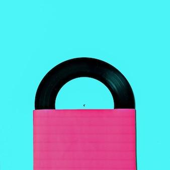 Conception d'art minimal rétro en vinyle