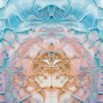 Conception artistique créative de couleur turquoise et marron symétrique