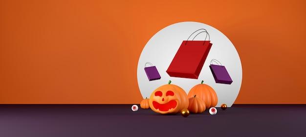 Conception De Bannière De Vente Halloween Photo Premium