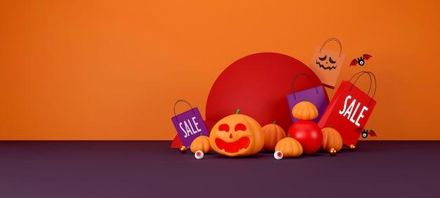 Conception de bannière de vente halloween