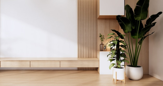 Conception en bois de coffret sur le rendu moderne de japanese.3d de pièce
