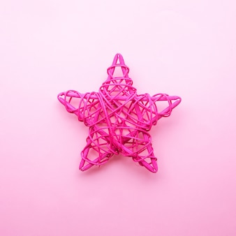 Conception de bricolage de couleur rose étoile