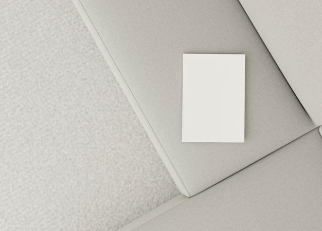 Conception de canapé intérieur minimal vue de dessus
