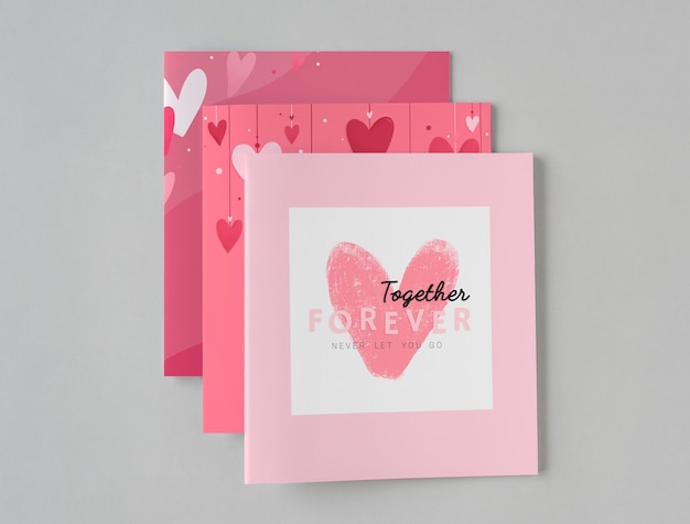 Conception De Cartes De Saint Valentin Mignon Photo gratuit