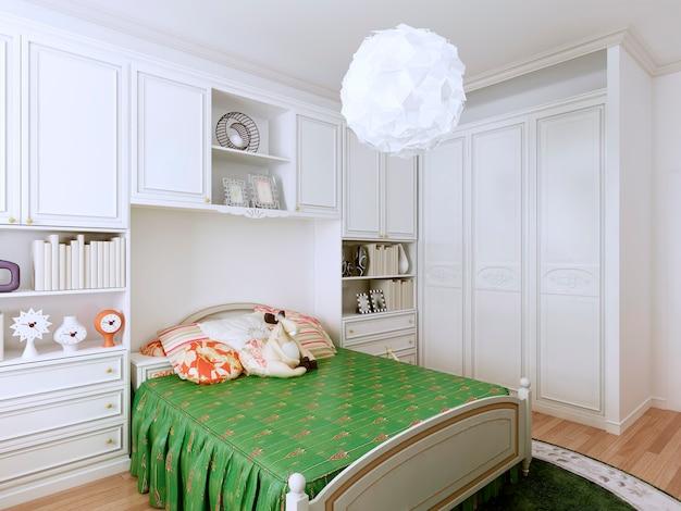 Conception de chambre classique confortable pour les enfants.