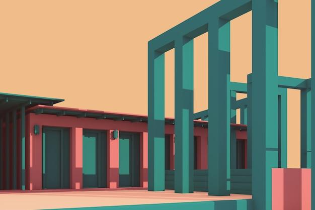 Conception de colonne et de poutre illustration 3d
