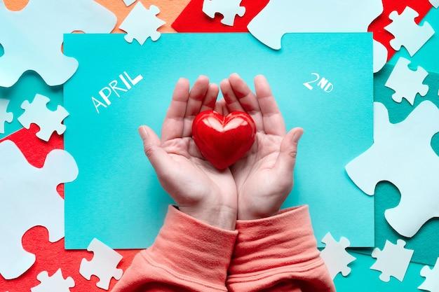 Conception créative pour la journée mondiale de sensibilisation à l'autisme