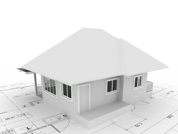 Conception de croquis abstrait de la maison extérieure