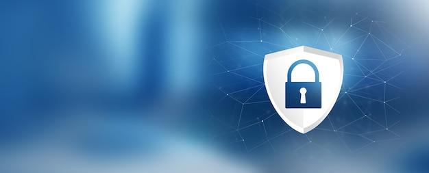 Conception de cybersécurité. cadenas sur écran numérique