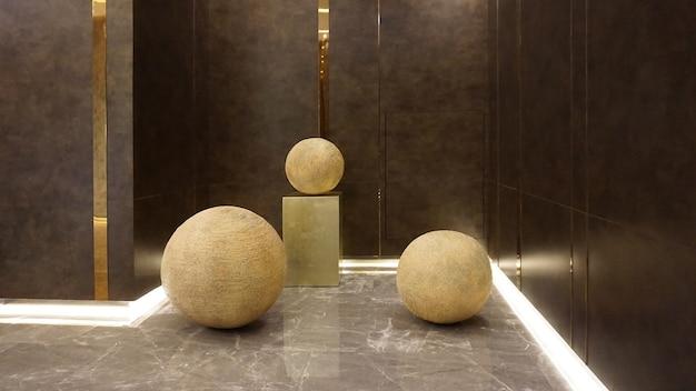 Conception de décoration intérieure et extérieure de style de luxe