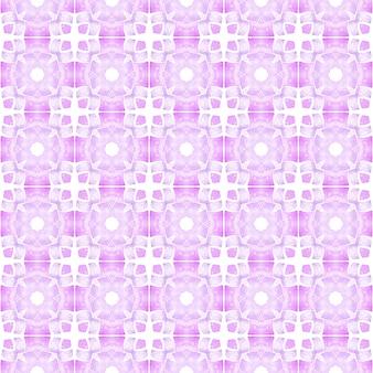 Conception dessinée à la main arabesque. conception d'été chic boho artistique violet. bordure dessinée à la main en arabesque orientale. impression éblouissante prête pour le textile, tissu de maillot de bain, papier peint, emballage.