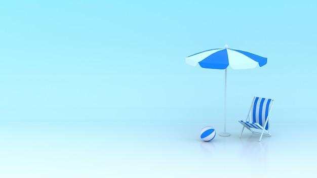 Conception d'été 3d bleue avec espace de copie