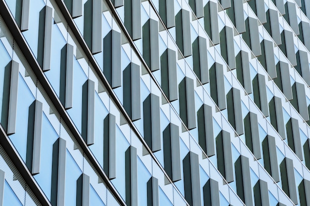 Conception à faible angle d'un bâtiment moderne