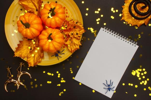Conception festive d'un blog féminin à la mode dans le style de halloween