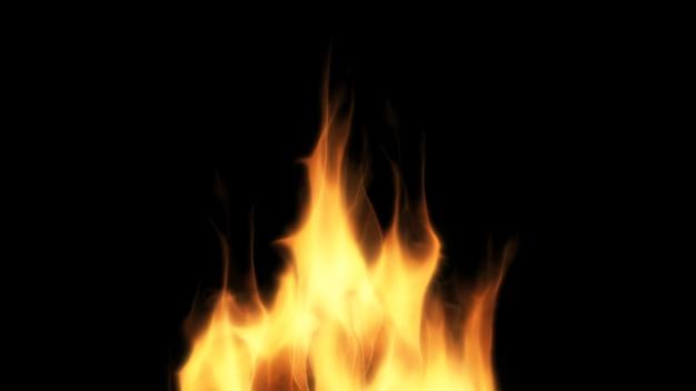 Conception de feu sur fond noir. fermer