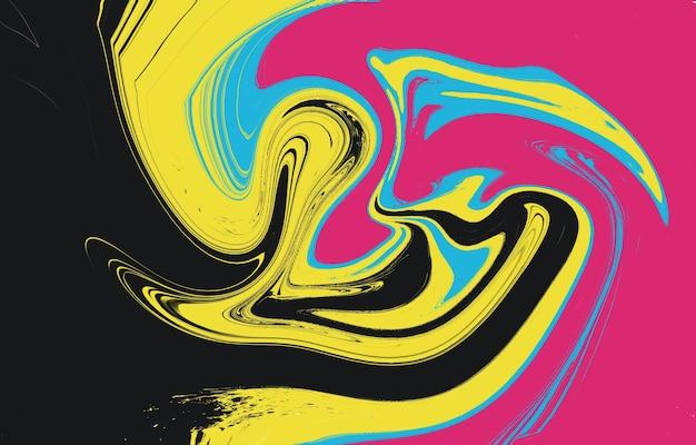 Conception de fond dégradé de couleur abstrait géométrique avec des formes liquides fond cool