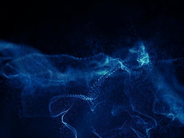 Conception de fond de vague techno numérique 3d