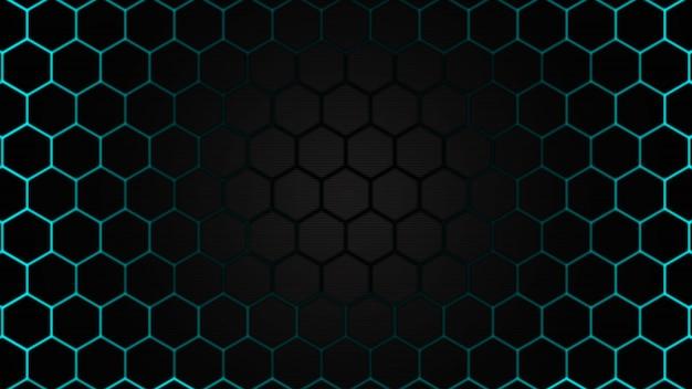 Conception de la future surface avec fond abstrait technologie hexagonale