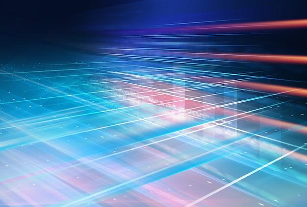 Conception graphique d'arrière-plan futuriste graphique haute technologie