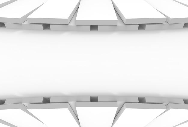 Conception graphique de panneaux blancs arrondis sur copie backgorund.