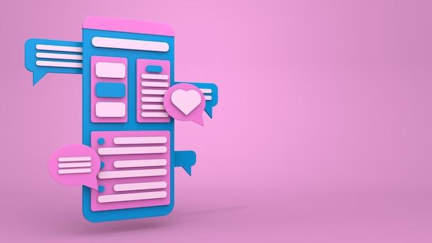 Conception d'illustration 3d pour la messagerie et l'envoi