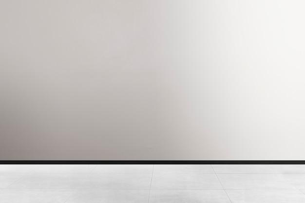 Conception d'intérieur de pièce minimale vide dans le ton noir et blanc