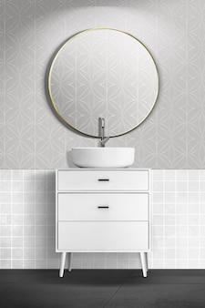 Conception intérieure authentique de salle de bains moderne