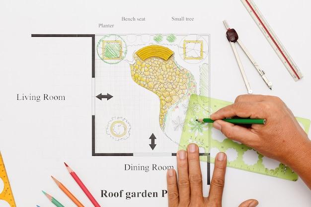 Conception de maison de jardin de balcon
