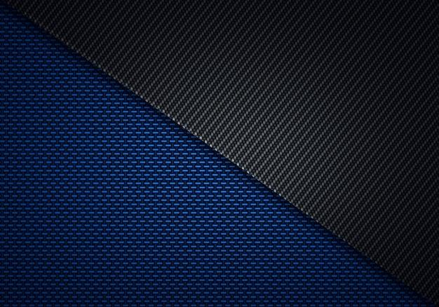 Conception matérielle abstraite moderne de fibre de carbone noire bleue noire