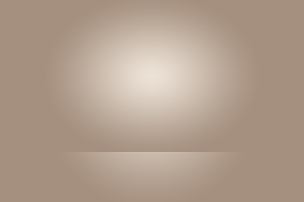 Conception de mise en page abstraite de fond de mur brun lisse, studio, salle, modèle web, rapport d'activité avec une couleur de dégradé de cercle lisse