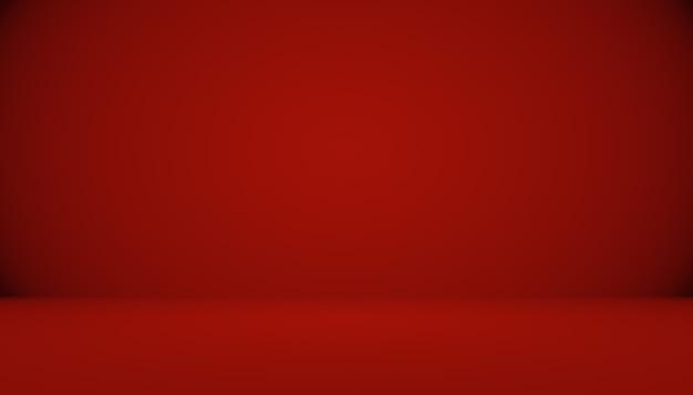Conception de mise en page abstraite de fond rouge noël saint-valentin, studio, salle, modèle web, rapport d'activité avec couleur dégradé de cercle lisse