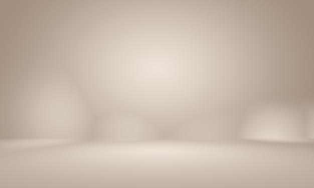 Conception de mise en page de fond de mur brun lisse abstrait, studio, salle, modèle web, rapport d'activité avec une couleur de dégradé de cercle lisse.