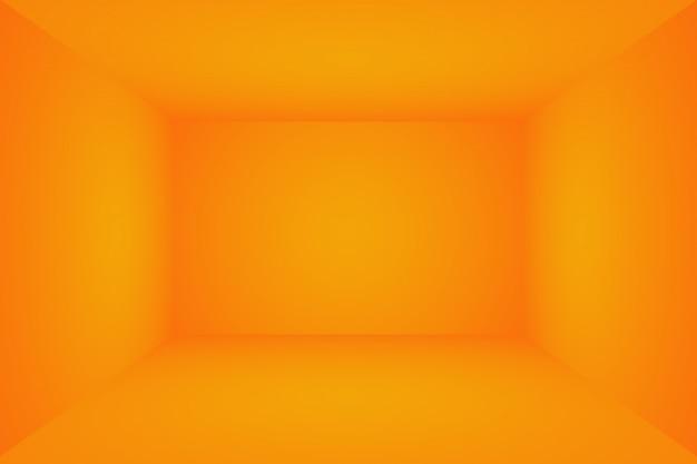 Conception de mise en page de fond orange abstrait, studio, chambre, modèle web, rapport d'activité avec une couleur dégradée de cercle lisse.