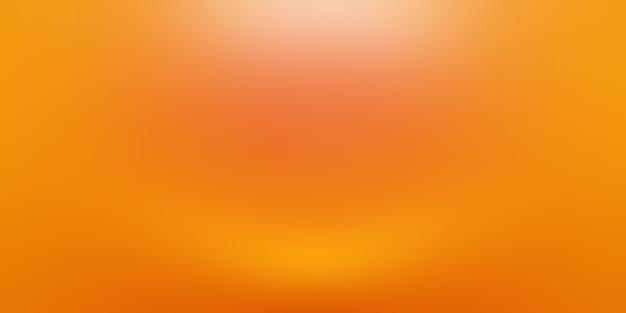 Conception de mise en page de fond orange abstrait, studio, salle, modèle web, rapport d'activité avec une couleur de dégradé de cercle lisse.