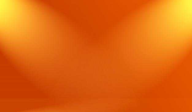 Conception de mise en page de fond orange lisse abstrait, studio, chambre, modèle web, rapport d'activité avec dégradé de cercle lisse