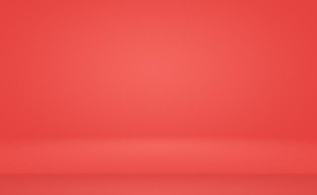 Conception de mise en page de la saint-valentin de luxe abstrait doux fond rouge, studio, salle, modèle web, rapport d'activité avec une couleur de dégradé de cercle lisse.