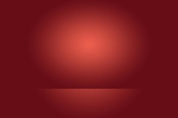 Conception de mise en page de la saint-valentin de noël de fond rouge doux de luxe abstrait, studio, salle, modèle web, rapport d'activité avec une couleur de dégradé de cercle lisse.
