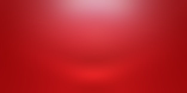 Conception De Mise En Page De La Saint-valentin De Noël De Fond Rouge Doux De Luxe Abstrait, Studio, Salle, Modèle Web, Rapport D'activité Avec Une Couleur De Dégradé De Cercle Lisse. Photo gratuit