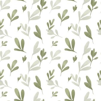 Conception de modèle sans couture florale feuilles vertes fond de papier peint botanique