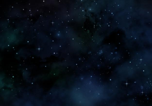 Conception de nuit étoilée