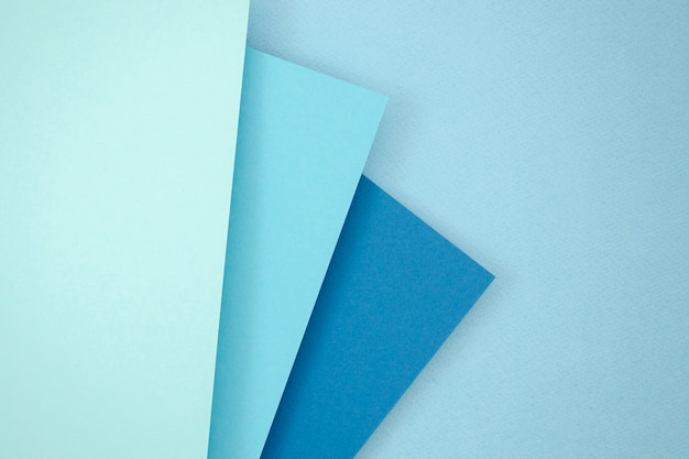 Conception de papier polygone pile bleue