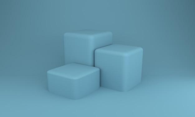 Conception de podium illustration 3d conception de sarcelle légère